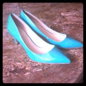 Nine West Green Patent Leather Heels 8